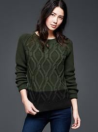 Cable-knit pullover sweater