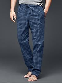Windowpane PJ pants