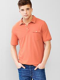 Solid pocket polo