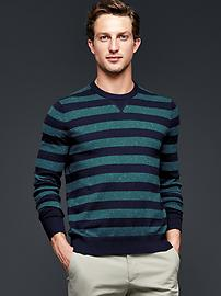Rugby nep cotton cashmere crew sweater