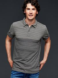 Lived-in gradient stripe polo