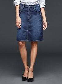 1969 A-line denim skirt