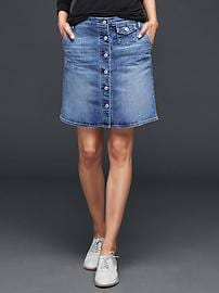 1969 denim skirt  button front