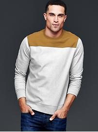 Lived-in colorblock sweatshirt