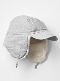 Flannel trapper hat