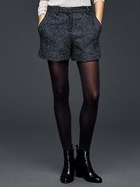 Speckle herringbone tailored shorts