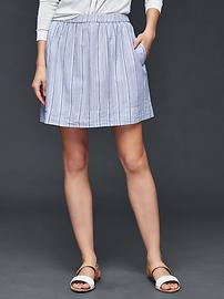 Linen stripe mini skirt
