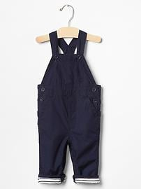 Jersey-lined overalls