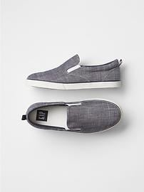 Solid slip-on sneakers