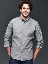 Clean chambray standard fit shirt