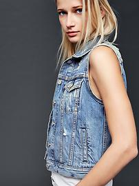 1969 icon destructed denim vest