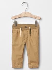 Pull-on button pants