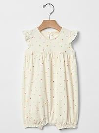 Organic polka dot shortie one-piece