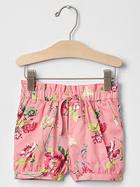 Rosy floral bubble shorts