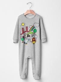 Mr. Men&#153 Little Miss&#153 + babyGap sunny shop footed one-piece