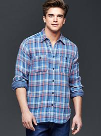 1969 iconic red plaid worker shirt