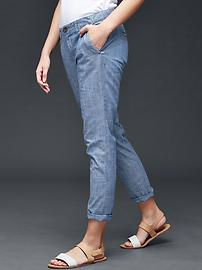 Chambray girlfriend chino