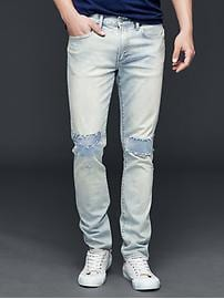 AUTHENTIC 1969 patchwork skinny fit jeans