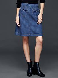 1969 denim flap pocket skirt