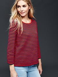Nautical stripe boxy top