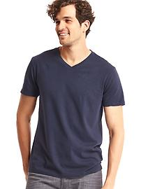 Jersey solid V-neck