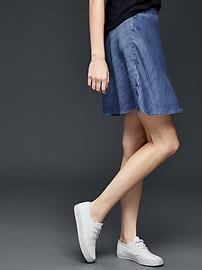 Tencel&#174 chambray flippy skirt