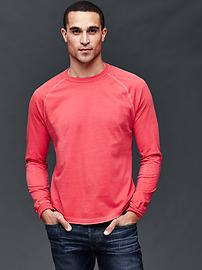 Solid baseball long sleeve t-shirt