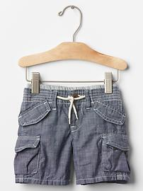 1969 pull-on chambray beachcomber shorts