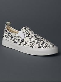 Fabric slip-on sneakers