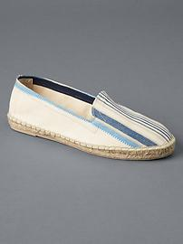 Fabric loafer espadrilles
