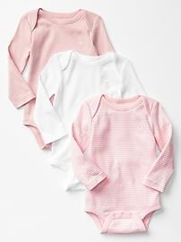 Favorite long-sleeve bodysuit (3-pack)