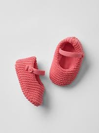 Knit mary janes