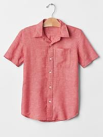 Linen short-sleeve shirt