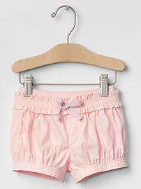Ruffle-trim bubble shorts
