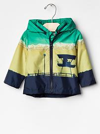 Beach scene windbreaker