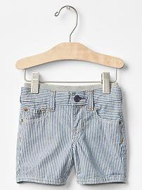 1969 pull-on railroad denim shorts