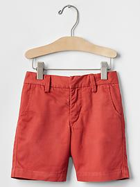 Solid flat front shorts