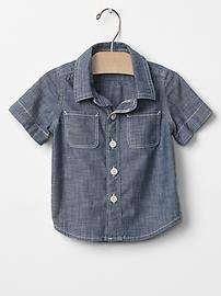 1969 chambray short-sleeve shirt