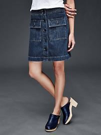 1969 denim trapunto waistband skirt