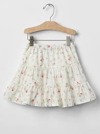 Daisy floral tier skirt