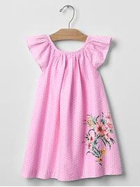 Garden border flutter dress