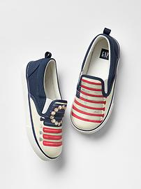 Photo-real slip-on sneakers