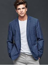 Cotton indigo blazer