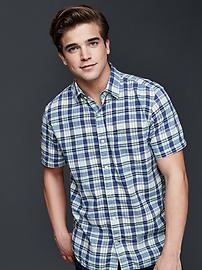 Madras plaid standard fit shirt
