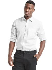 Wrinkle-resistant solid shirt