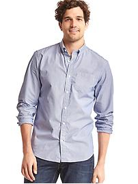 Thin stripe poplin shirt
