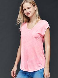 Cap sleeve pocket tee