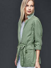 Linen-cotton relaxed blazer