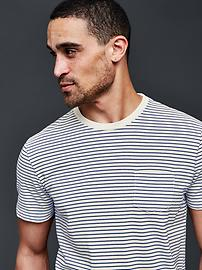 Vintage wash feeder stripe t-shirt