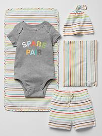 Spare pair changing set